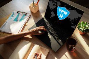 VPN on computer concept